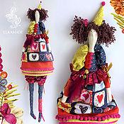 Тильда Зверята ручной работы. Ярмарка Мастеров - ручная работа Интерьерная кукла тильда Коломбина. Handmade.