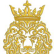 Дизайн и реклама ручной работы. Ярмарка Мастеров - ручная работа лев и корона дизайн машинной вышивки. Handmade.