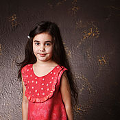 Работы для детей, handmade. Livemaster - original item Felted baby dress