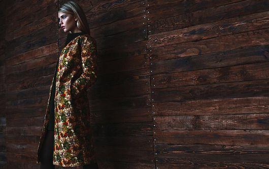 Верхняя одежда ручной работы. Ярмарка Мастеров - ручная работа. Купить Пальто с принтом.. Handmade. Разноцветный, пальто, пальто на подкладе