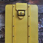 """Канцелярские товары ручной работы. Ярмарка Мастеров - ручная работа Футляр для книги """"Желтый чемоданчик"""". Handmade."""