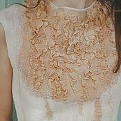 """Одежда ручной работы. Ярмарка Мастеров - ручная работа Валяный Топ """"Розовый песок"""". Handmade."""