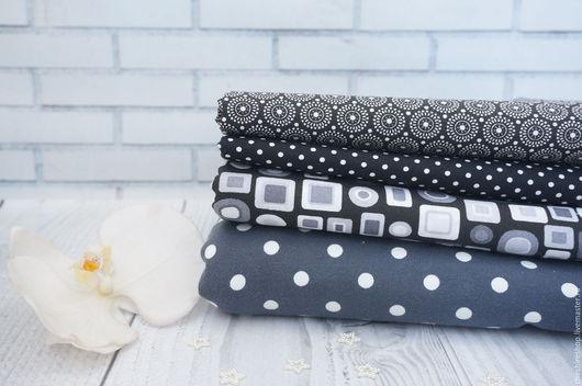 """Шитье ручной работы. Ярмарка Мастеров - ручная работа. Купить Набор ткани """"Черно-белый"""". Handmade. Чёрно-белый"""
