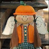 Куклы и игрушки ручной работы. Ярмарка Мастеров - ручная работа Фея урожая Тыковка. Ароматизированная кукла. Handmade.