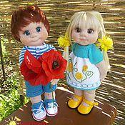 Куклы и игрушки ручной работы. Ярмарка Мастеров - ручная работа Яша и Анфиска. Handmade.