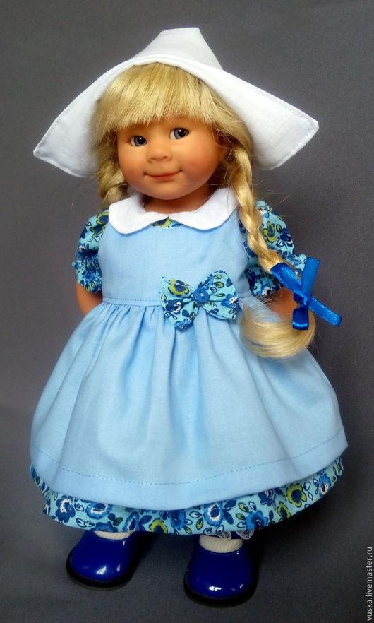 Одежда для кукол ручной работы. Ярмарка Мастеров - ручная работа. Купить Комплект для вихтелей №37. Handmade. Голубой, американский хлопок