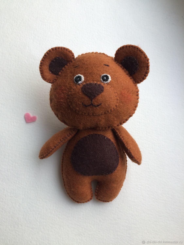 открытка медвежонок из фетра этом, как