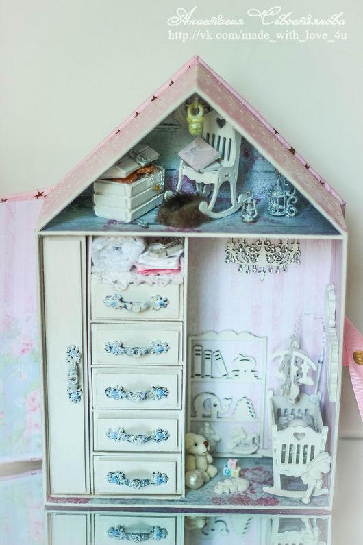Миниатюрные модели ручной работы. Ярмарка Мастеров - ручная работа. Купить Мамины сокровища. Handmade. Розовый, детская комната, кроватка