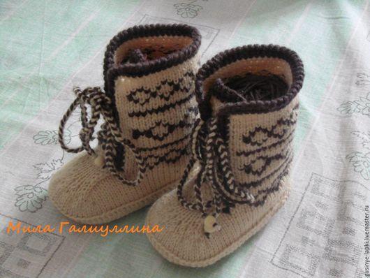 Детская обувь ручной работы. Ярмарка Мастеров - ручная работа. Купить Сапожки вязаные детские, детская вязаная обувь,Угги скандинавские. Handmade.