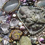 "Украшения handmade. Livemaster - original item Jewelry set ""Frog Princess"" - necklace and bracelet. Handmade."
