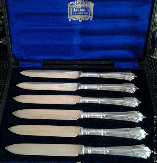 Винтажная посуда. Ярмарка Мастеров - ручная работа. Купить -10% WH&S Серебро для Harrods Десертные ножи антикварные приборы. Handmade.