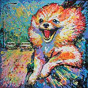 Картины и панно handmade. Livemaster - original item Oil painting Warm wind of Happiness. Handmade.