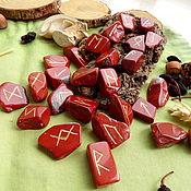 Фен-шуй и эзотерика handmade. Livemaster - original item Runes on red Jasper. Handmade.