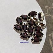 handmade. Livemaster - original item 1pc Czech rhinestone Chain 10h5mm Navette Czech crystals in DACs. Handmade.