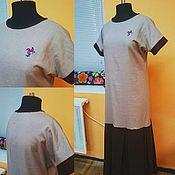 Одежда ручной работы. Ярмарка Мастеров - ручная работа Платье из льна  (размер 44-48). Handmade.