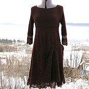 Одежда ручной работы. Ярмарка Мастеров - ручная работа Платье в цвете бордо. Handmade.