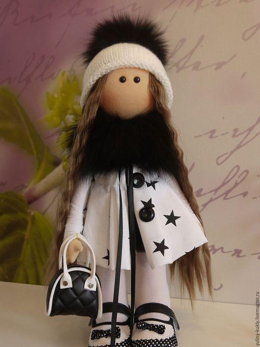 Коллекционные куклы ручной работы. Ярмарка Мастеров - ручная работа. Купить Кукла текстильная Звездуля. Handmade. Чёрно-белый, хлопок