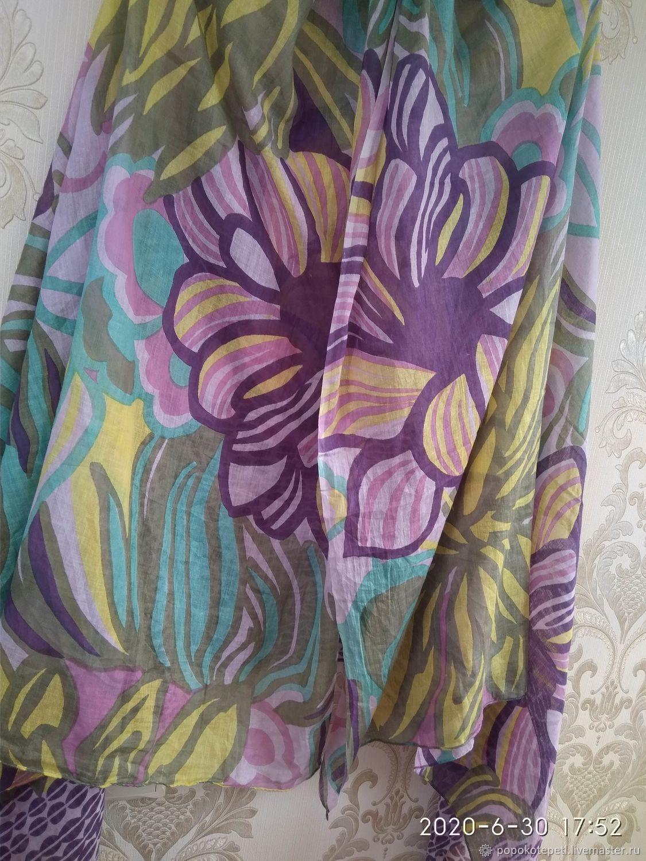 bright pareo, cotton, vintage Germany, Vintage accessories, Novorossiysk,  Фото №1