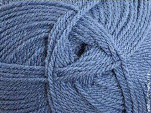 """Вязание ручной работы. Ярмарка Мастеров - ручная работа. Купить Пряжа для вязания шерсть, """"Джинсовый"""", 100g. Handmade. Синий"""