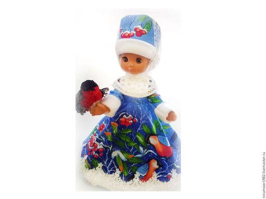 Одежда для кукол ручной работы. Ярмарка Мастеров - ручная работа. Купить Настенька (Морозко). Handmade. Комбинированный, кукла, снегирь, платье