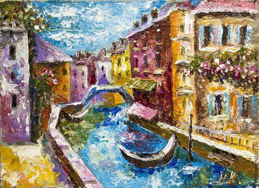 Город ручной работы. Ярмарка Мастеров - ручная работа. Купить Картина маслом Венеция. Handmade. Венеция, картина маслом, масло