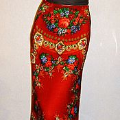 Одежда handmade. Livemaster - original item Skirt to the floor of the Pavlovo-Posad shawl