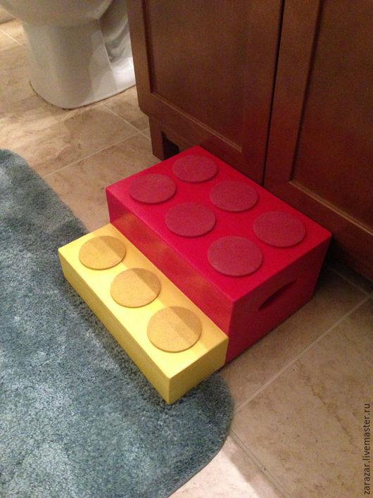 Детская ручной работы. Ярмарка Мастеров - ручная работа. Купить LEGO Стул-стремянка с ручками. Handmade. Подставка для ног, лего