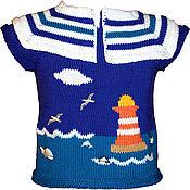 """Работы для детей, ручной работы. Ярмарка Мастеров - ручная работа Детская футболка """"Юный морячок"""". Handmade."""