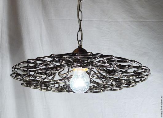 Светильник `Старинная бронза`. Плетеная керамика Елены Зайченко