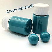 Epoxy resin handmade. Livemaster - original item Pigment paste for coloring epoxy resin. Color blue-green.. Handmade.