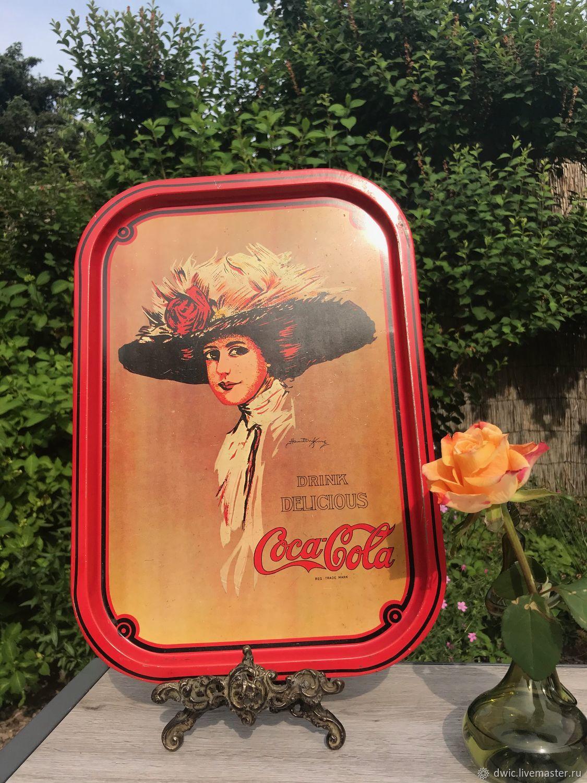 Tin tray 'Coca Cola', Holland, Vintage kitchen utensils, Arnhem,  Фото №1