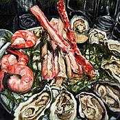 """Картины и панно ручной работы. Ярмарка Мастеров - ручная работа купить картину маслом холст """"Романтический ужин"""". Handmade."""