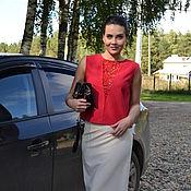 """Одежда ручной работы. Ярмарка Мастеров - ручная работа Блузка с """"Лето красное"""". Handmade."""