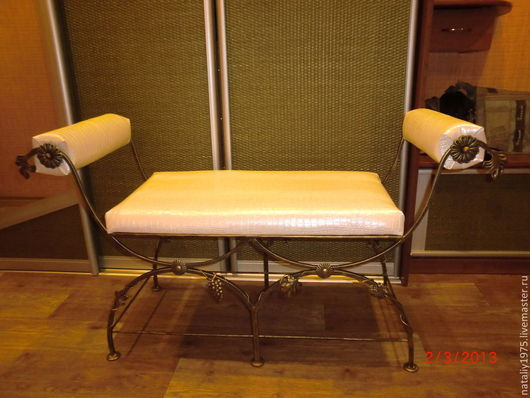 Мебель ручной работы. Ярмарка Мастеров - ручная работа. Купить диванчик, металл, ковка, ручная работа. Handmade. Черный, золото