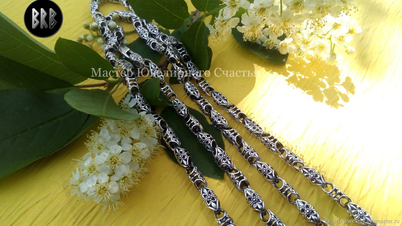 "Цепь ""Цветы Солнца"" серебро 925 пр, Chain, Penza,  Фото №1"