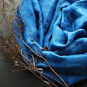 Аксессуары handmade. Livemaster - original item Scarf silk Indigo blue large tippet eco. Handmade.