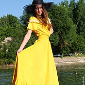 """Одежда handmade. Livemaster - original item Летнее платье """"Лучистое"""" хлопок, кружево. Handmade."""