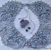 handmade. Livemaster - original item Irish lace. Collar
