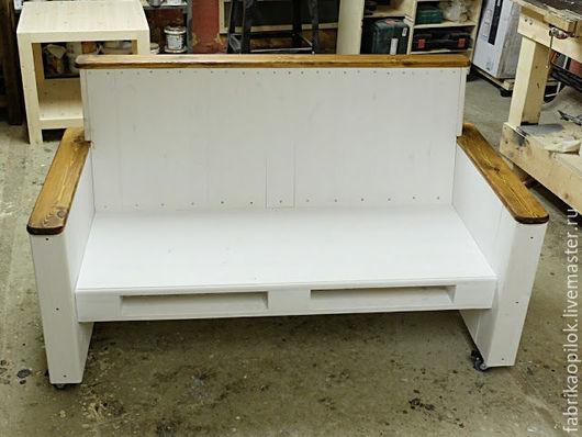 Мебель ручной работы. Ярмарка Мастеров - ручная работа. Купить Диванчик (скамья) из дерева. Handmade. Белый, сосна, акриловые краски