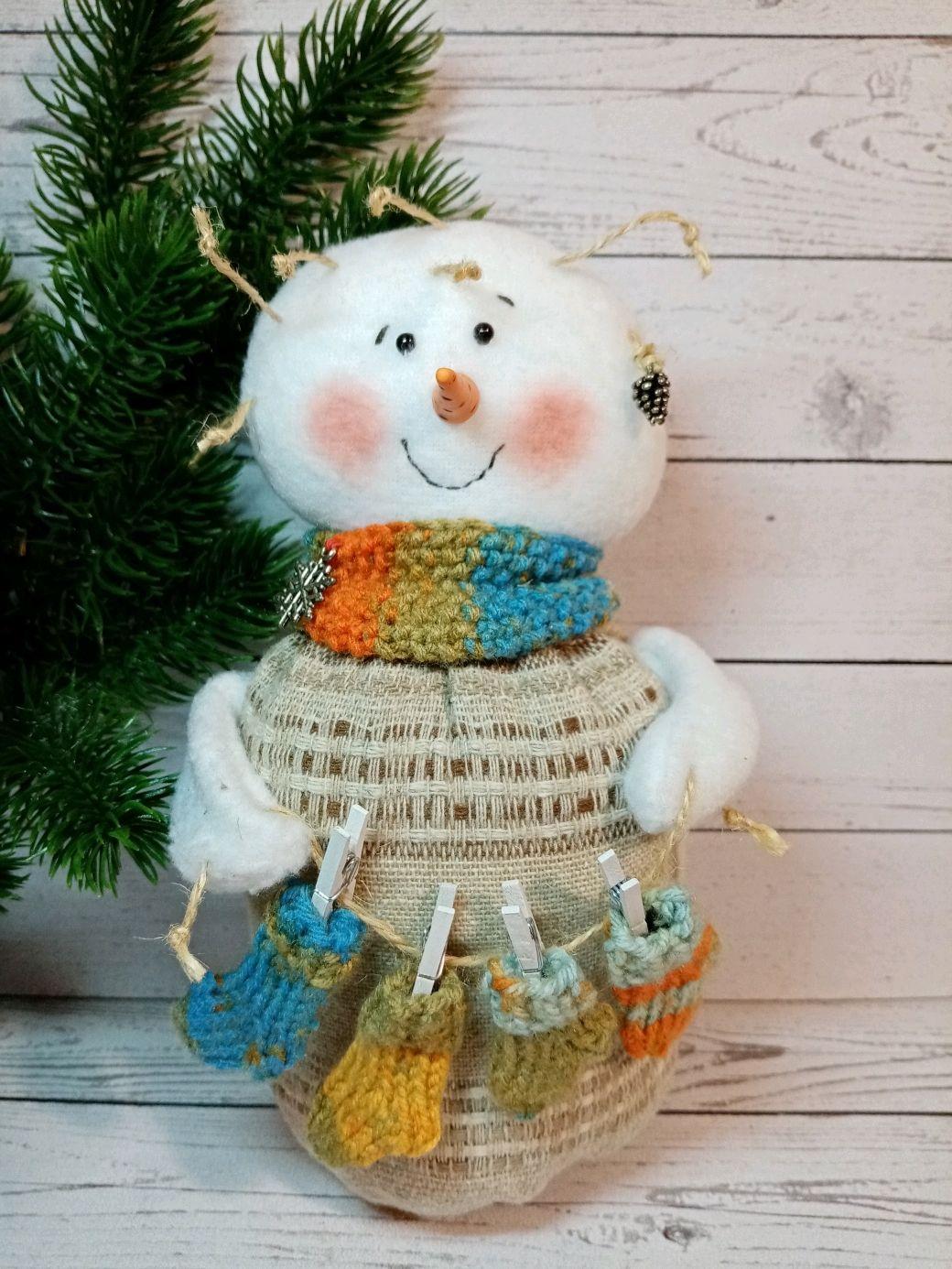 Снеговик с носочками, Куклы, Рязань, Фото №1