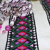 Одежда ручной работы. Ярмарка Мастеров - ручная работа Вышивка для вставки. Handmade.