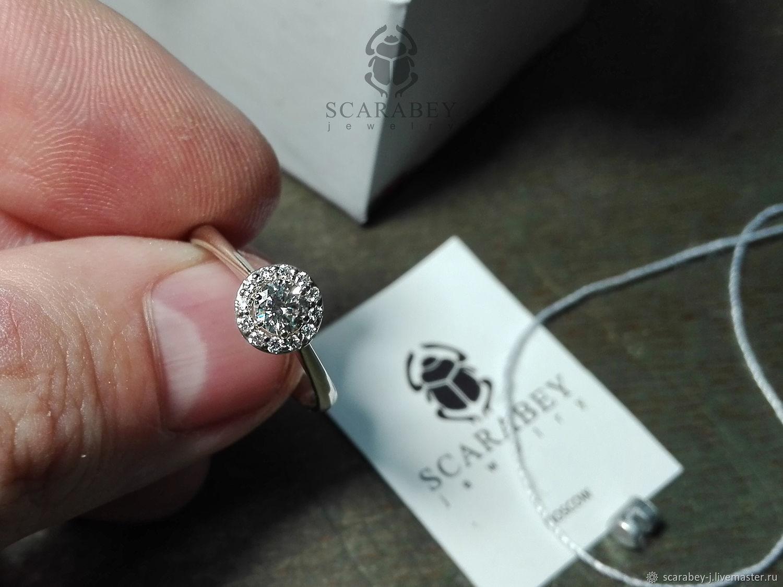 Классическое кольцо из белого золота с бриллиантами, Кольца, Москва, Фото №1