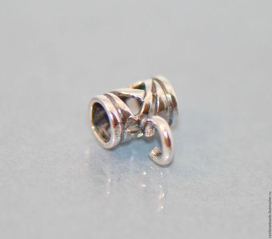 бейл серебряный; серебряный бейл; бейл серебро; фурнитура серебро; серебряная фурнитура; держатель для подвески; бейл для подвески; бейл для кулона