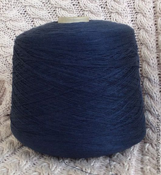Другие виды рукоделия ручной работы. Ярмарка Мастеров - ручная работа. Купить Нитки лен синий. Handmade. Лен, льняной