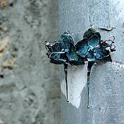 Украшения ручной работы. Ярмарка Мастеров - ручная работа Орхидеи в синем. Handmade.