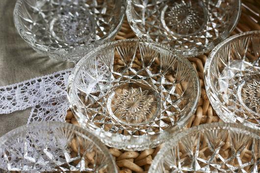 Винтажная посуда. Ярмарка Мастеров - ручная работа. Купить Креманки 6 шт. из чешского хрусталя. Handmade. Белый, купить, для фруктов