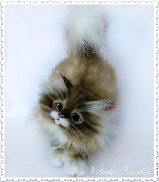 Игрушки животные, ручной работы. Ярмарка Мастеров - ручная работа. Купить Котик Пушистик. Handmade. Кот, коты, пластика