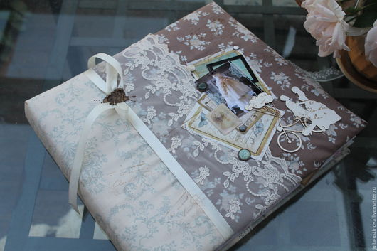 """Свадебные фотоальбомы ручной работы. Ярмарка Мастеров - ручная работа. Купить Cвадебный альбом """"Ты мое счастье раз и навсегда"""". Handmade."""
