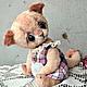 Мишки Тедди ручной работы. Ярмарка Мастеров - ручная работа. Купить Кнопа. Handmade. Бледно-розовый, кошка, кот игрушка