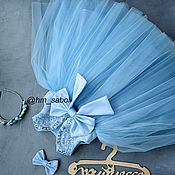 Платья ручной работы. Ярмарка Мастеров - ручная работа Нарядное платье на годик. Платье снежинки. Голубое платье. Новогоднее. Handmade.